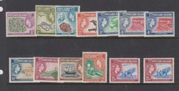 Pitcairn Islands S 18-28 1957 Queen Elizabeth II Definitives, Mint Hinged - Pitcairn Islands