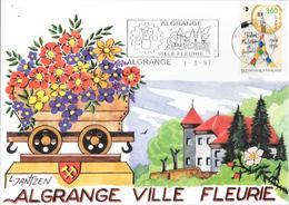 1912024 - N° 3000 SUR CP DE ALGRANGE DU 01/03/97 - Marcophilie (Lettres)