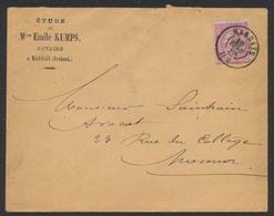 """émission 1884 - N°46 Sur Lettre Obl Double Cercle """"Marbais"""" (1888) Vers Namur. Superbe - 1884-1891 Leopold II."""