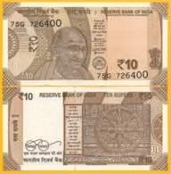 India 10 Rupees P-109 2018 (Letter A) UNC Banknote - India