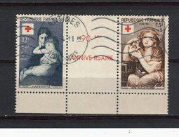 FRANCE - Y&T Paire N° 1006-07° - Croix-Rouge - Gebraucht