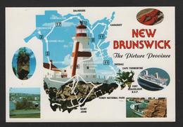 - Carte Géographique - Canada Nouveau BRUNSWICK -Grand FALLS, Hartland,Bathurst,Noncton,St Stephen,St John - Cartes Géographiques