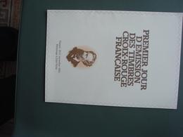 PLaquette De Présentation Du 1er Jour D'émission Hommage à Jules Verne - Croix-Rouge 11.1982 - Documents De La Poste