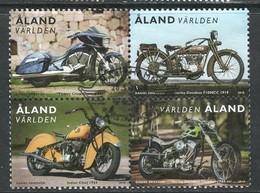 Aland, Yv 456-59 In Blok  Jaar 2018, Reeks, Gestempeld - Aland