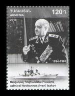 Armenia 2019 Mih. 1136 Admiral Of The Fleet Of The Soviet Union Ivan Isakov. Ship MNH ** - Arménie