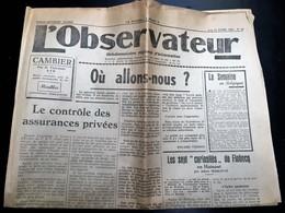 Ancien Journal - L'observateur - Ath - Ellezelles - Flobecq - 15 Avril 1950 - Journaux - Quotidiens