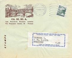 ITALIE   -  PARIS   -  POSTE FIRENZE FERR; CORRISP  -  DEVANT DE LETTRE -  POUR LA FRANCE  -   1966 - 1961-70: Marcophilie