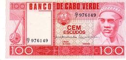 Cape Verde P.54 100 Escudos 1977 Unc - Cape Verde
