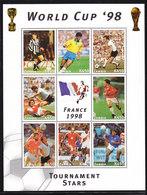 Soccer World Cup 1998 - ZAMBIA - Sheet MNH** - Coppa Del Mondo