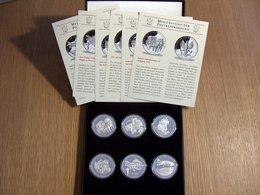 6 Médailles Meilensteine Der Posbeförderung Deutsche Post Argent Silver - [11] Collections