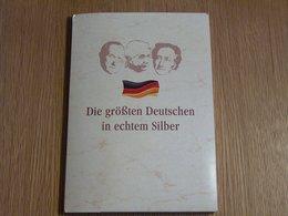 10 Médailles Les Plus Grands Allemands Avec Certificat Argent Silver - [11] Collections
