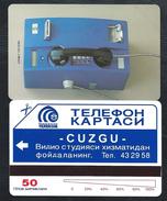 UZBZEKISTAN 3 First Card 50u Blue Telephone Test MINT URMET NEUVE (BI1216 - Uzbekistan