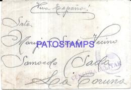 127403 SPAIN ESPAÑA MILITARY COVER CENSORED CIRCULATED TO LA CORUÑA NO POSTAL POSTCARD - Spanien