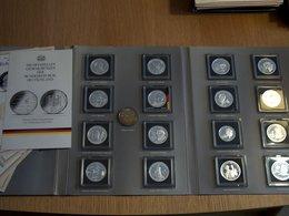 16 Médailles + 1 MONNAIE 20€ 2016 Les Plus Grands Allemands Argent Silver - [11] Collections