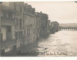 47 // VILLENEUVE SUR LOT  10 Mars 1927 / INONDATION   Vue Sur Le Pont Neuf   / Photo 18 X 12 - Villeneuve Sur Lot