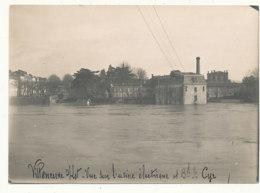 47 // VILLENEUVE SUR LOT  10 Mars 1927 / INONDATION   Vue Sur L'usine électrique Et Boulevard St Cyr / Photo 18 X 12/ - Villeneuve Sur Lot