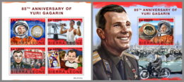 SIERRA LEONE 2019 MNH Yuri Gagarin Space Raumfahrt Espace M/S+S/S - OFFICIAL ISSUE - DH1951 - Spazio