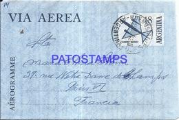 127406 ARGENTINA BUENOS AIRES COVER AEROGRAMME YEAR 1942 CIRCULATED TO FRANCE NO POSTAL POSTCARD - Non Classés