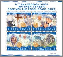 SIERRA LEONE 2019 MNH Mother Teresa Nobel Prize Winner Nobelpreis Prix Nobel M/S - IMPERFORATED - DH1951 - Mère Teresa
