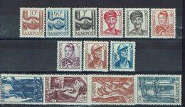 Sarre - 1948 - N° 231/243 - Neufs X, Traces De Charnières Quasi Invisible - TB - - 1947-56 Ocupación Aliada