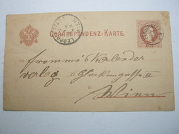 1882 , FERSCHNITZ , Klarer Stempel Auf Ganzsache - Briefe U. Dokumente