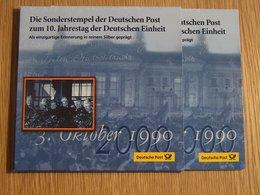 Die Sonderstempel Der Deutschen Post Oktober 1990 Argent Silver - [11] Collections