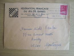 ENVELOPPE FEDERATION FRANCAISE DU JEU DE DAMES - 1961-....