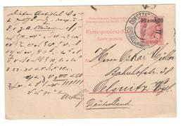 Österreichische Post In Konstantinopel , Ganzsache Nach Deutschland , 1909 - Covers & Documents