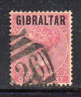 APR294 - GIBILTERRA 1886 , Vittoria Unificato N. 2  Usato (2380A) - Gibilterra