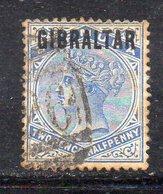 APR306 - GIBILTERRA 1886 , Vittoria Unificato N. 4  Usato (2380A) - Gibilterra