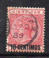 APR307 - GIBILTERRA 1889 , Vittoria Unificato N. 16  Usato (2380A) - Gibilterra