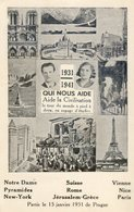 430B.. .1931-1941. Qui Nous Aide. Aide à La Civilisation.Le Tour Du Monde à Pied à Deux En Voyage D'Etudes - Ereignisse