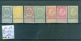 52-59 Xx COB 170.00€ - 1893-1900 Thin Beard