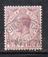 APR323 - GIBILTERRA 1921 , Unificato N. 79  Usato (2380A)  Fil Corsivo - Gibilterra