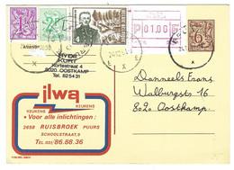 X09 - Belgium - Publibel 2692 N - Ilwa Keukens Ruisbroek - Gebruikt Brugge - Entiers Postaux