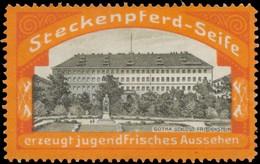 Radebeul: Gotha, Schloss Friedenstein Reklamemarke - Cinderellas