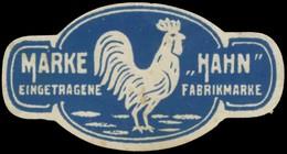 Marke Hahn Reklamemarke - Vignetten (Erinnophilie)