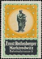 Marktredwitz: Apotheke Ernst Reifenberger Reklamemarke - Erinnofilie