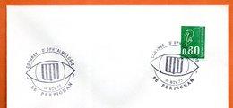 66 PERPIGNAN   CONGRES D'OPHTALMOLOGIE 1977  Lettre Entière N° BC 589 - Storia Postale