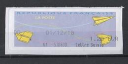 2018  Lettre Suivie 1.20 - 2000 «Avions En Papier»