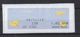 2014  Lettre Verte  1.02 - 2000 «Avions En Papier»