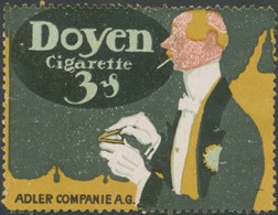 Dresden: Doyen Zigarette Reklamemarke - Erinnophilie