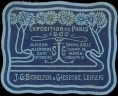 Leipzig: Druckerei J.G. Schelter & Giesecke Reklamemarke - Erinnophilie