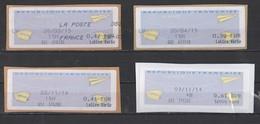 2014 - 2015  Lettre Verte  Différentes Valeurs - 2000 «Avions En Papier»