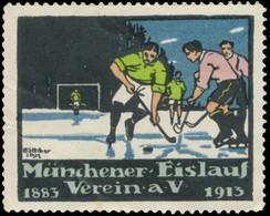 München: Eishockey Reklamemarke - Erinnophilie