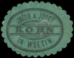 Wsetin: Jacob & Josef Kohn Reklamemarke - Erinnophilie