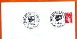 21 DIJON   BASE AERIENNE GUYNEMER   1978  Lettre Entière N° BC 602 - Marcophilie (Lettres)