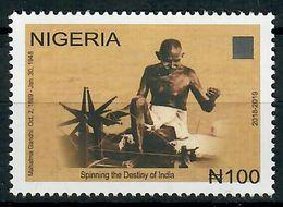 Gandhi Of India On Nigeria Stamp - Mahatma Gandhi