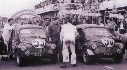Renault 4CV 1063 - Pilotes: Francois Landon-Just-Emile Vernet - (Concurrents Francaises Du Mans 1951)  - PHOTO 15x10cms - Le Mans