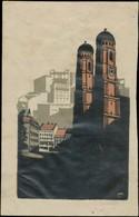 München: Frauenkirche Reklamemarke - Erinnofilie